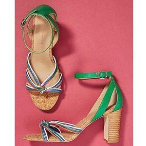 Anthropologie Summer Nights Strappy Heeled Sandals
